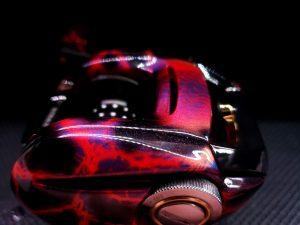 Daiwa Steez Custom Iridescent Red Lightning