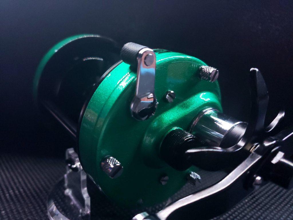 Custom Pearlized Green Catfish Reel